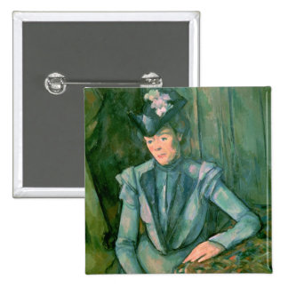 Woman in Blue  1900-02 15 Cm Square Badge