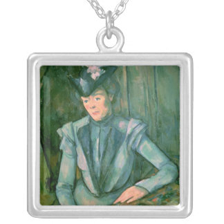 Woman in Blue  1900-02 Silver Plated Necklace