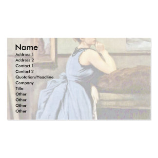 Woman In Blue By Corot Jean-Baptiste-Camille (Best Business Card