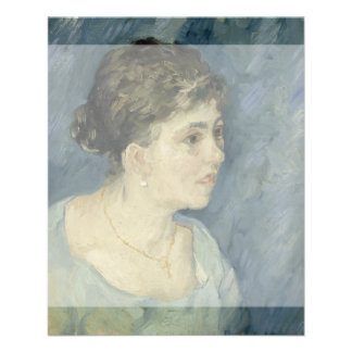 Woman in Blue by Vincent Van Gogh Personalized Flyer