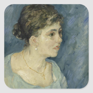 Woman in Blue by Vincent Van Gogh Stickers
