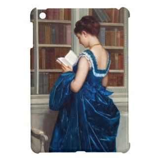 Woman in Blue, reading a Book iPad Mini Cases