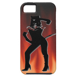 Woman in Cat suit iPhone 5 Covers