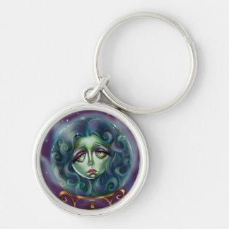 Woman in Crystal Ball Pop Surrealism Key Chain