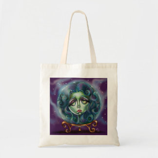 Woman in Crystal Ball Pop Surrealism Small tote