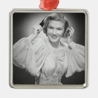 Woman in Dress 2 Christmas Ornament