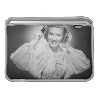 Woman in Dress 2 MacBook Sleeve