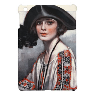 Woman in Embroidered Blouse Cover For The iPad Mini