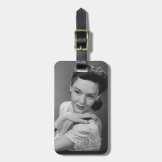 Woman in Evening Gown Luggage Tag