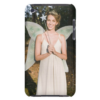 Woman in fairy costume barely there iPod case