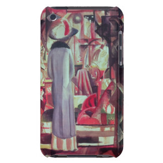 Woman in front of a large illuminated window iPod Case-Mate cases