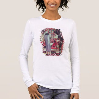 Woman in front of a large illuminated window long sleeve T-Shirt