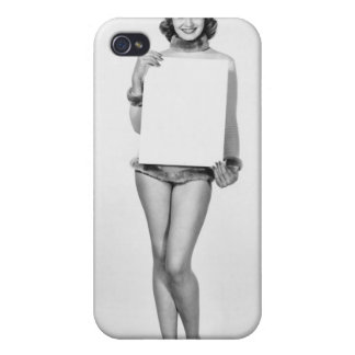 Woman in Fur iPhone 4/4S Covers