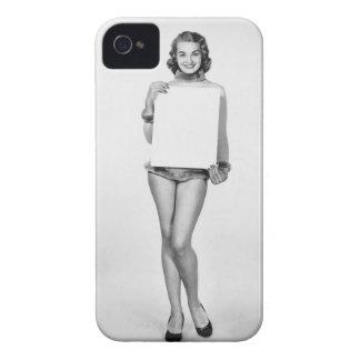 Woman in Fur iPhone 4 Case
