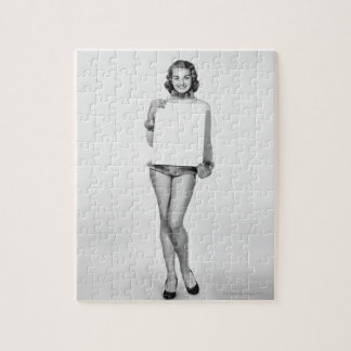 Woman in Fur Jigsaw Puzzle