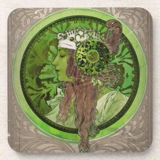 Woman in Green - LAUREL Coaster