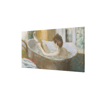 Woman in her Bath, Sponging her Leg, c.1883 Stretched Canvas Print