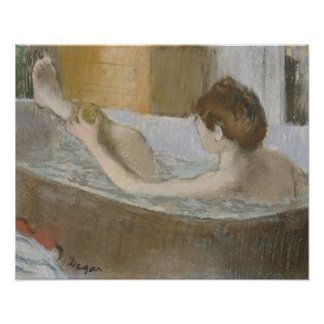 Woman in her Bath, Sponging her Leg, c.1883 Poster