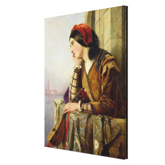 Woman in Love 1856 Gallery Wrapped Canvas