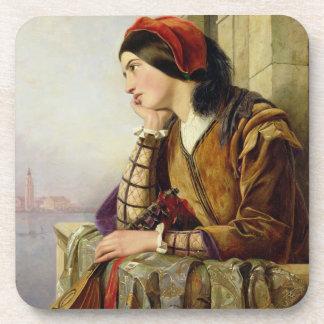 Woman in Love, 1856 Drink Coasters