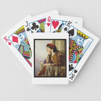 Woman in Love, 1856 Poker Cards