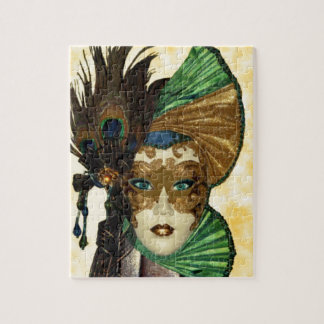 Woman In Masquerade Art Jigsaw Puzzle