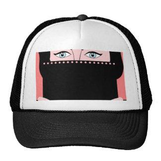 Woman in nikab trucker hats