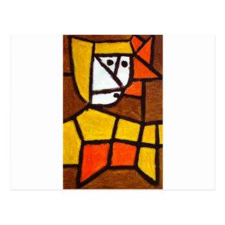 Woman in Peasant Dress by Paul Klee Postcard