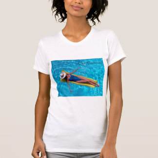 Woman in pool image for women's-t-shirt shirts