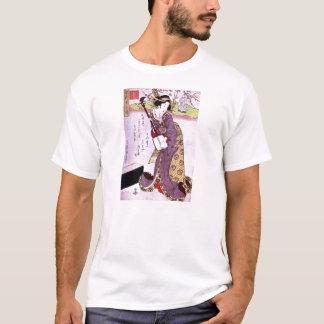 Woman in Purple T-Shirt