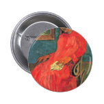 Woman In Red Dress By Paul Gauguin (Best Quality) Button
