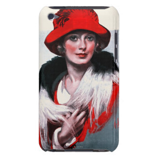 Woman in Red Hat iPod Touch Covers