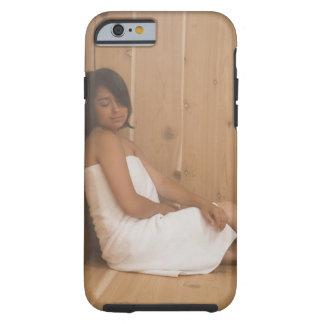 Woman in Sauna Tough iPhone 6 Case