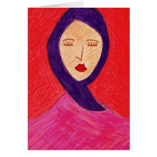 woman in Silence Greeting Card