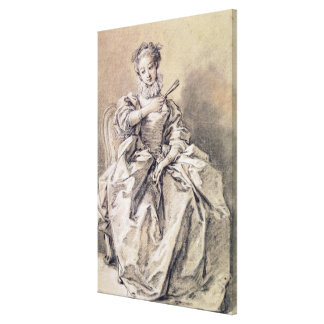 Woman in Spanish Costume Canvas Print