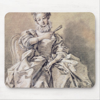 Woman in Spanish Costume Mouse Mat