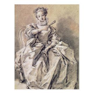 Woman in Spanish Costume Postcard
