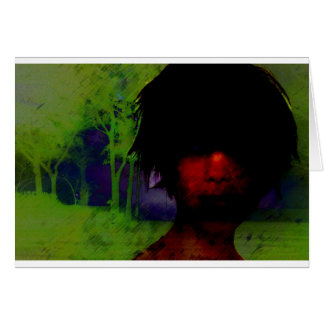Woman in the Dark woods Greeting Card