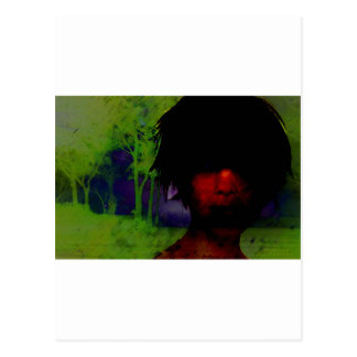 Woman in the Dark woods Postcard