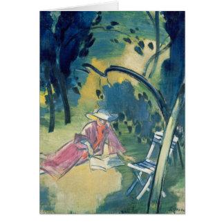 Woman in the Garden Card