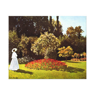 Woman in the Garden Monet Fine Art Canvas Print