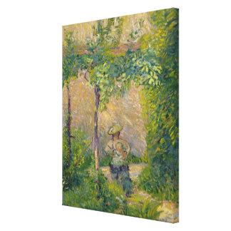 Woman in the Garden (oil on canvas) Gallery Wrapped Canvas