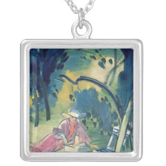 Woman in the Garden Silver Plated Necklace