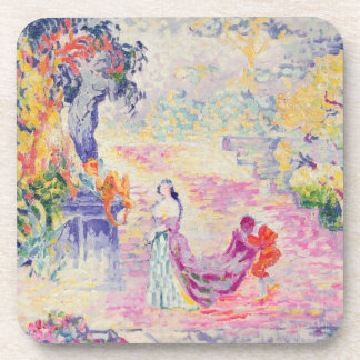 Woman in the Park, 1909 (oil on canvas) Beverage Coasters