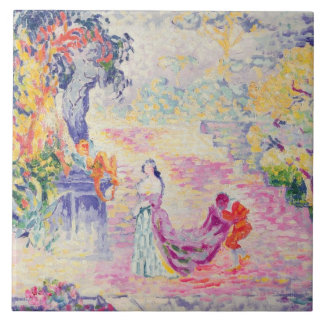 Woman in the Park, 1909 (oil on canvas) Tile