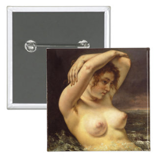 Woman in the Waves 15 Cm Square Badge