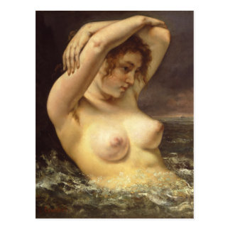 Woman in the Waves Postcard