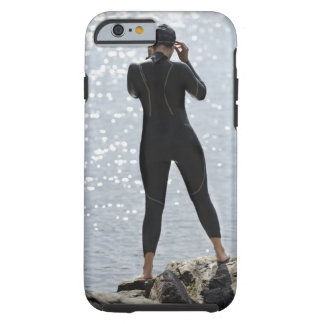 Woman in wetsuit standing on rock tough iPhone 6 case