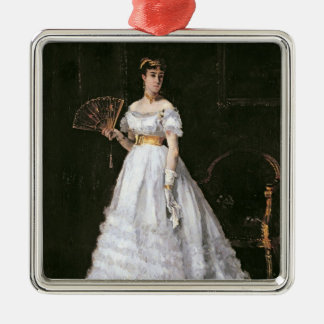 Woman in White Christmas Ornament