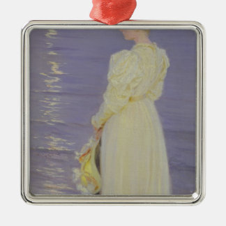 Woman in White on a Beach, 1893 Christmas Ornament